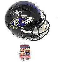 $349 » Lamar Jackson Baltimore Ravens Signed Autograph Speed Full Size Helmet JSA Certified