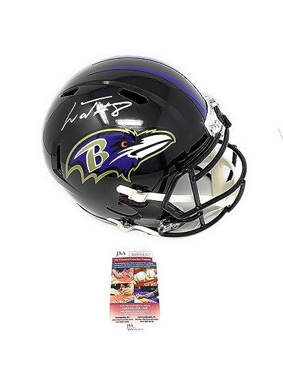 100984f62 Lamar Jackson Baltimore Ravens Signed Autograph Speed Full Size Helmet JSA  Witnessed Certified
