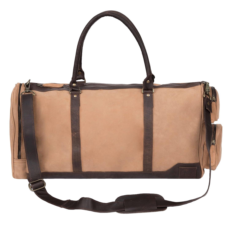 コロンバス ボストンバッグ トラベルバッグ 旅行 ビジネス コニャック&マホガニー 2トーン レザー 本革 英国デザイン オーダーメイド MAHI Leather   B07878FNBZ