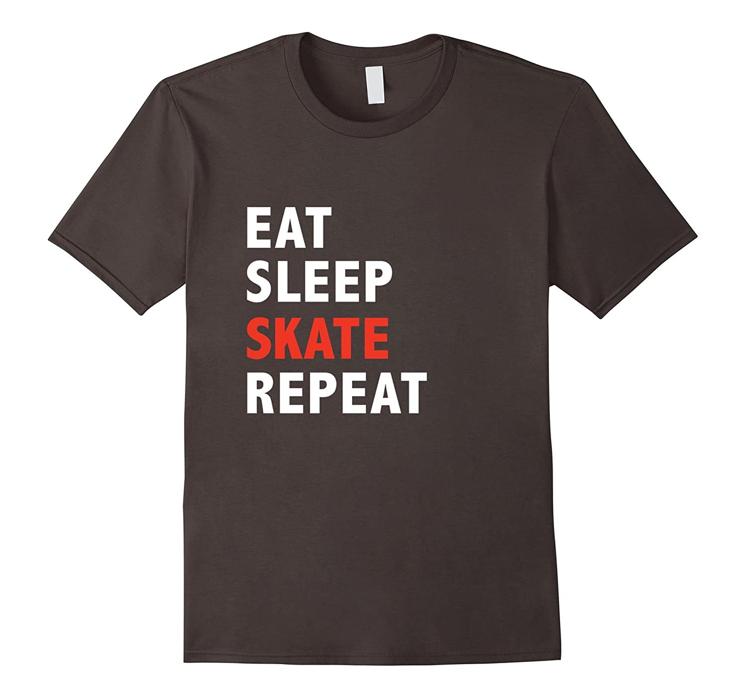 657f29e2799b Funny Eat Sleep Skate Repeat Ice Roller Figure Speed Skating-TH ...