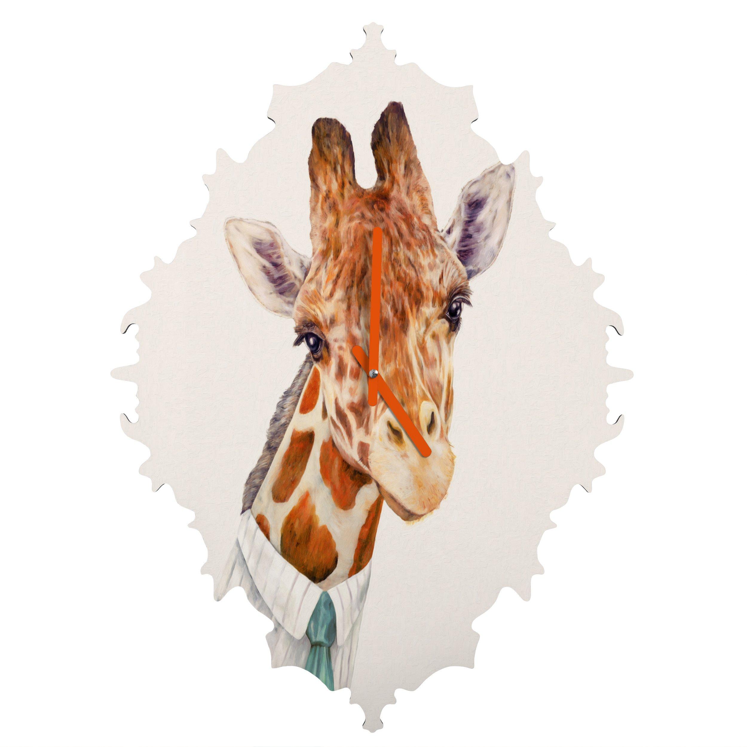 Deny Designs Animal Crew, Mr.Giraffe, Baroque Clock, Medium