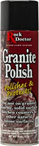 Rock Doctor Stone Granite Polish – Polishes Granite & Protects Surfaces, Makes Granite Shine – (18 oz) Granite/Marble Countertop Polish Spray for Vanity, Table Top, Kitchen Counters, Stone Surfaces