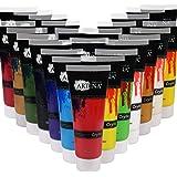 Artina Set da 24 Colori acrilici Assortiti Crylic 120ml per Pittura Professionale artisti pittori Accademia Belle Arti