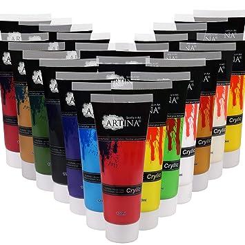 Artina Acrylfarben Set Crylic 24x120 Ml Kunstlerfarben