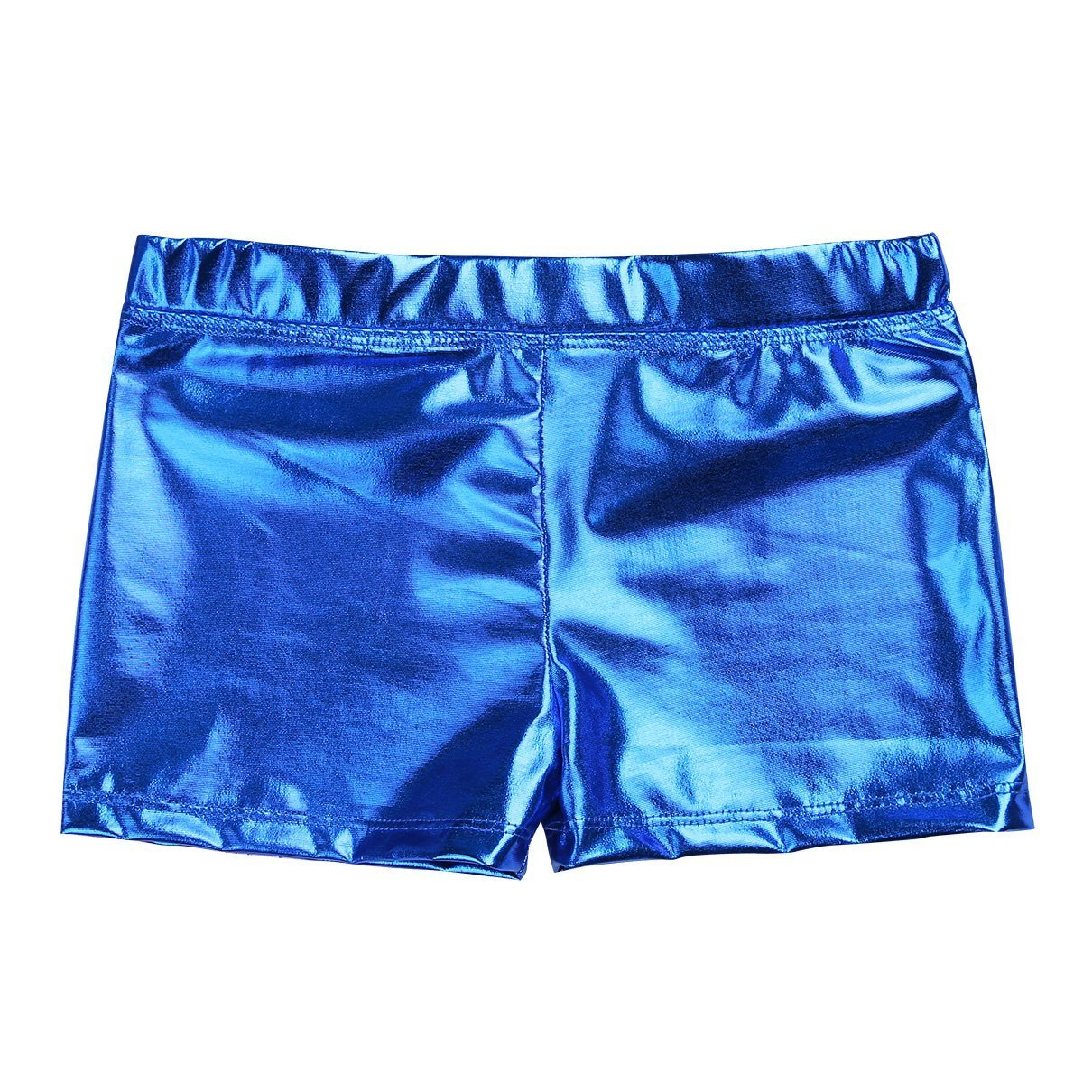 24d727f3e iEFiEL Girls Metallic Gymnastic Dance Shorts Shiny Bottoms Booty ...