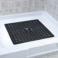 """SlipX Solutions Square Shower Stall Mat Adds Non-Slip Traction (21"""" Sides, 160+ Suction Cups, Great Drainage)"""