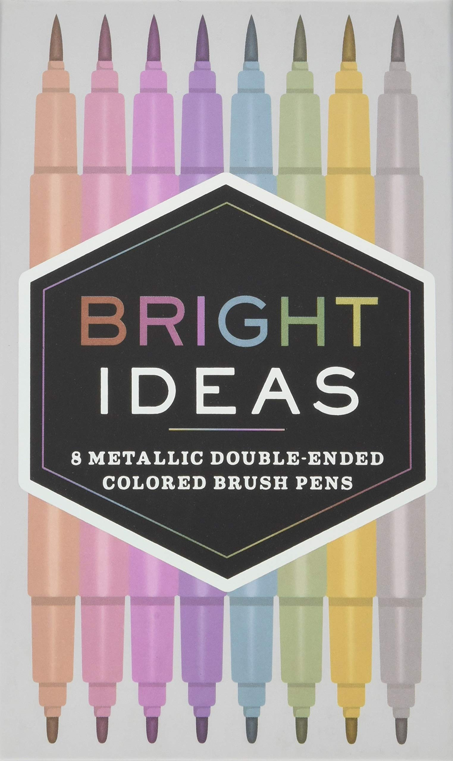 Bright Ideas: 8 Metallic Double-Ended Colored Brush Pens PDF