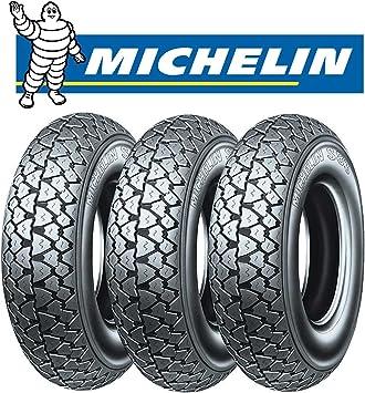3 Reifen Michelin S83 Für Piaggio Ape 50 Rst Mix 1999 2003 Größe 100 90 10 56j Dot 2016 Auto
