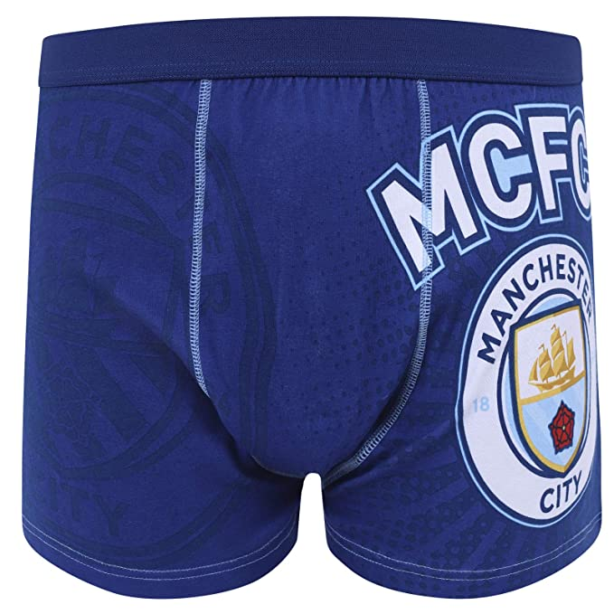 Manchester City FC Official Soccer Gift Mens Short Pajamas Loungewear