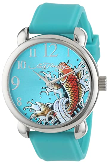 Ed Hardy Women s FO-BL Fountain Blue Quartz Analog Watch  ed hardy   Amazon.ca  Watches 5fd783abe9