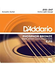 DAddario EJ15 Phosphor Bronze Acoustic Guitar Strings Extra Light10-47