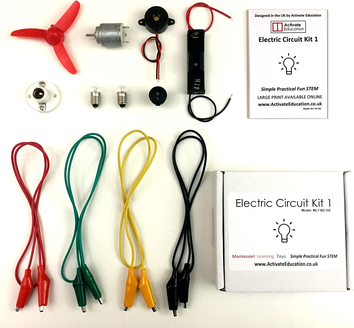 Electric Circuit Kit 1 Activate Education Montessori Learning Toys