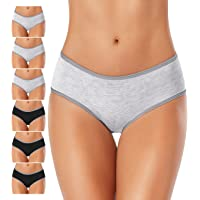 DUKAWA Womens Cotton Underwear Full Coverage Hipster Panties Stretchy Breathable Colorful Briefs Soft Underpants for…