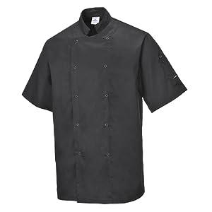 Portwest C733 – Cumbria Veste Chefs de la, XL, noir