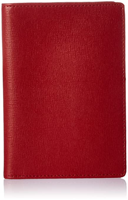 c39bd8016781 Amazon.com | Royce Leather RFID Blocking Passport Document Wallet in  Saffiano Leather, Red | Passport Wallets