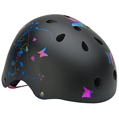 Mongoose Filagree Youth Street Helmet (Black, Girls) : Bike Helmets : Sports & Outdoors