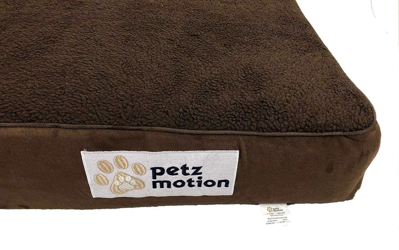 etc. Petzmotion Colch/ón ortop/édico de Espuma viscoel/ástica para Perro Funda Lavable displasia de Cadera Forro Impermeable Ideal para Artritis de Mascotas
