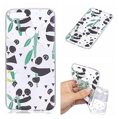 Qiaogle Teléfono Caso - Funda de TPU Silicona Carcasa Case Cover para Xiaomi Mi A1/Mi 5X (5.5 Pulgadas) - HX94/Panda