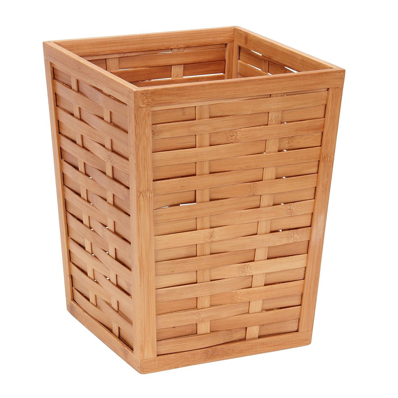 Amazon.com: Household Essentials Bamboo Trash Can, Basket Weave, Medium:  Home U0026 Kitchen