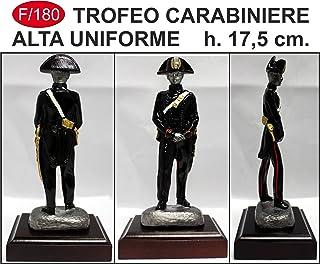 Statue policier haute uniforme Carabiniers Trophée émaillé nouveau H. 17,5cm 5cm Idea Trofeo