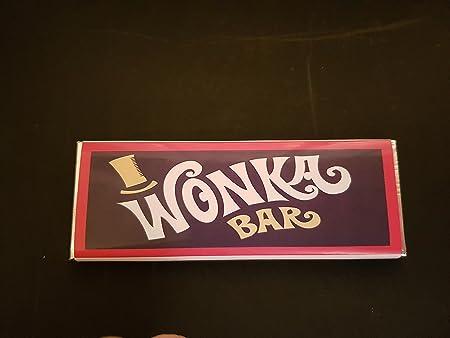 15 Wonka Custom Replica Chocolate Bars With Golden Tickets