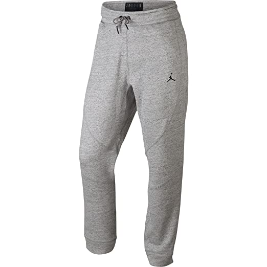 681b6d77d19f85 Jordan 860198-063 Men Wings Fleece Pant DK Grey Heather Black at Amazon Men s  Clothing store