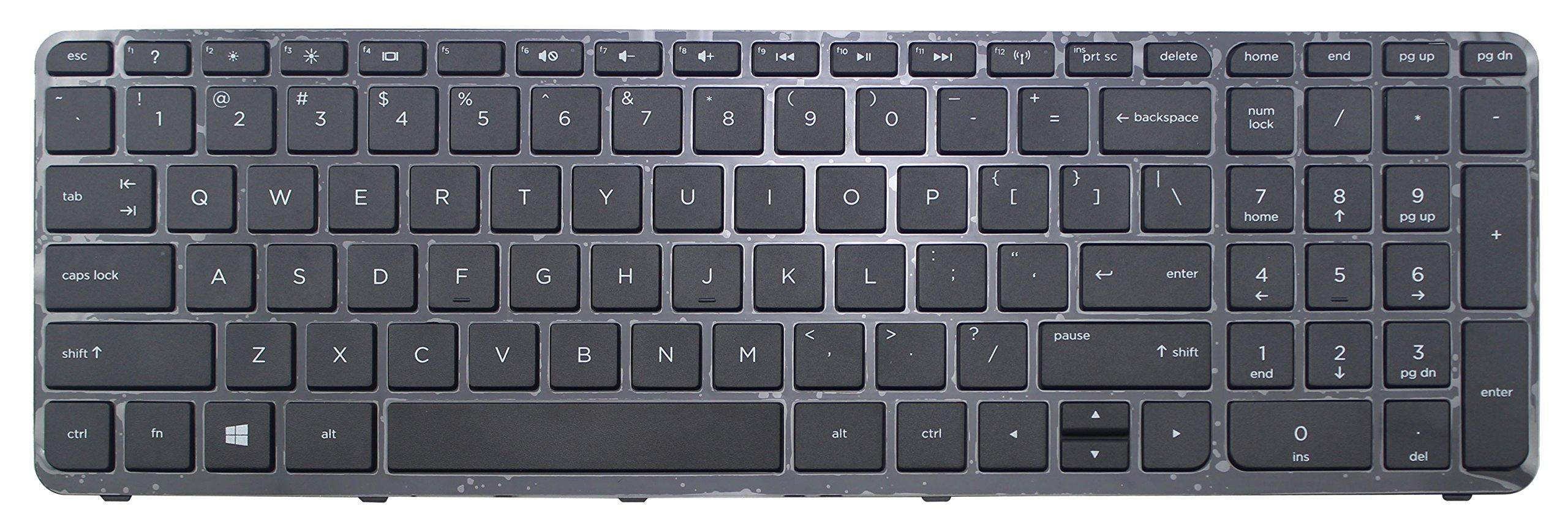 CHNASAWE Laptop US Layout Keyboard for HP Pavilion 17-e112nr 17-e113dx 17-e113nr 17-e117dx 17-e117nr