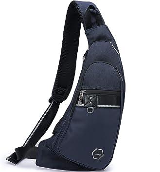 Men Chest Cross Body Bag Pack Waterproof Travel Shoulder Sling Backpack Pouch