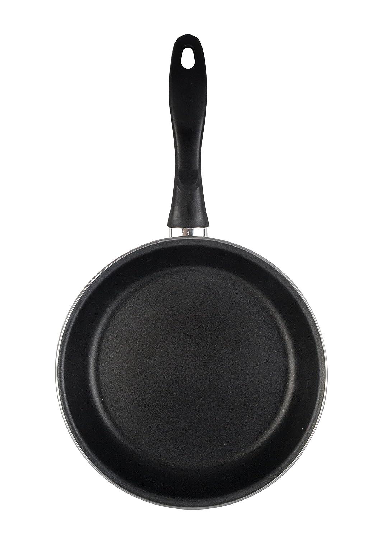 Magefesa Black Sartén 20 cm de acero esmaltado, antiadherente bicapa reforzado, color negro exterior. Apto para todo tipo de cocinas, incluida ...