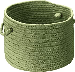 product image for Colonial Mills BR69 14 by 14 by 10-Inch Boca Raton Solid Storage Basket, Moss Green