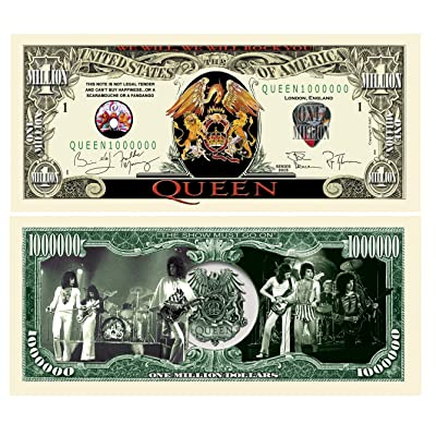 American Art Classics Pack of 5 - Limited Edition Queen Million Dollar Collectible Bill - Freddie Mercury - Bohemian Rhapsody: Toys & Games