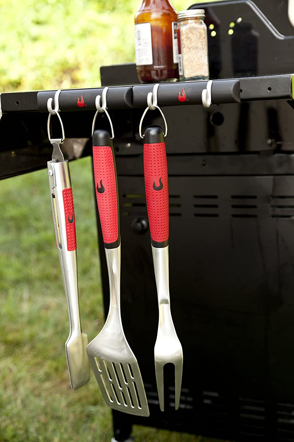 CHAR-BROIL 140 767 Premium 3-Piece Barbecue Accessory Set Charbroil 140 767