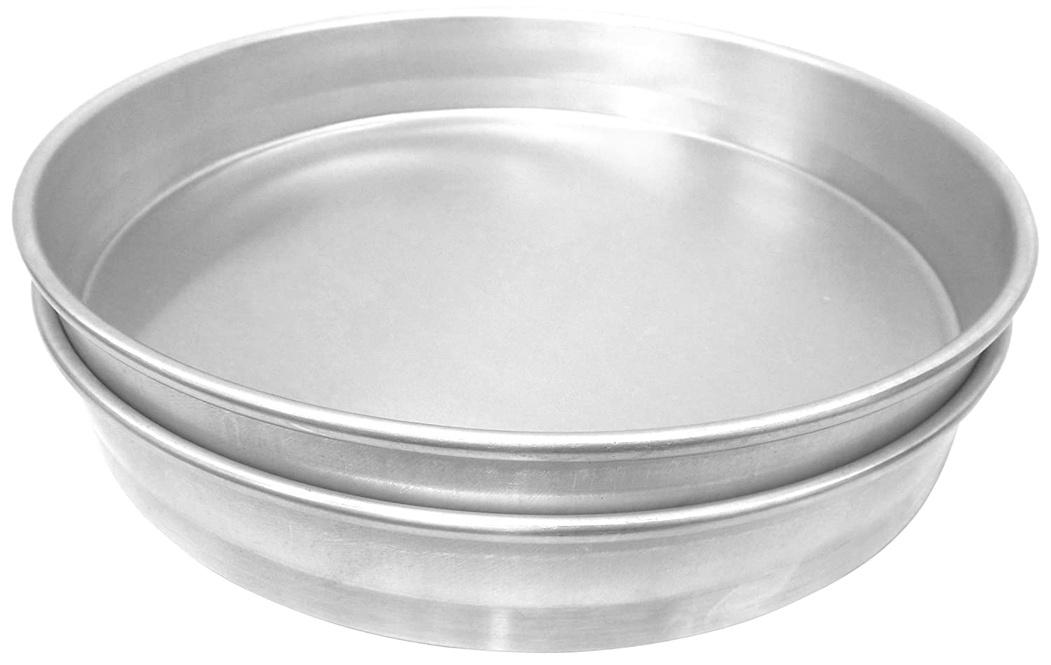 Straight Sided Allied Metal CPN9X2 Hard Aluminum Nesting Pizza//Cake Pan 9 by 2-Inch Allied Metal Spinning Corporation