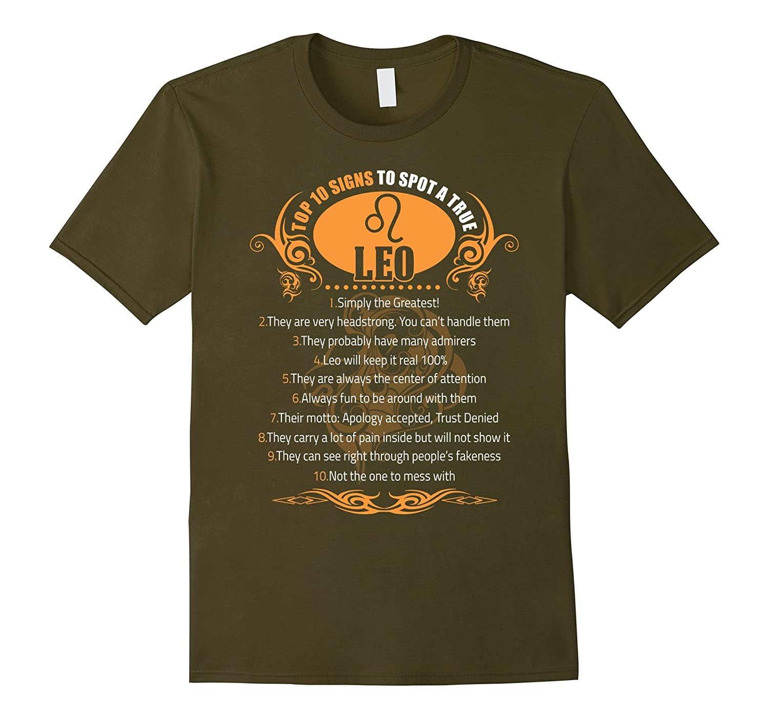 10 Signs To Spot A True Leo T-shirt Astrology Leo tee-TH