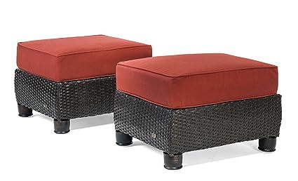 La-Z-Boy Outdoor Breckenridge Resin Wicker Patio Furniture Ottomans (2  Piece Set - Amazon.com : La-Z-Boy Outdoor Breckenridge Resin Wicker Patio