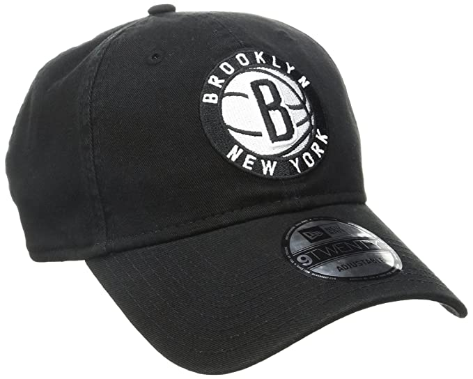 18da76fe NBA Brooklyn Nets Core Classic 9Twenty Adjustable Cap, Black, One Size
