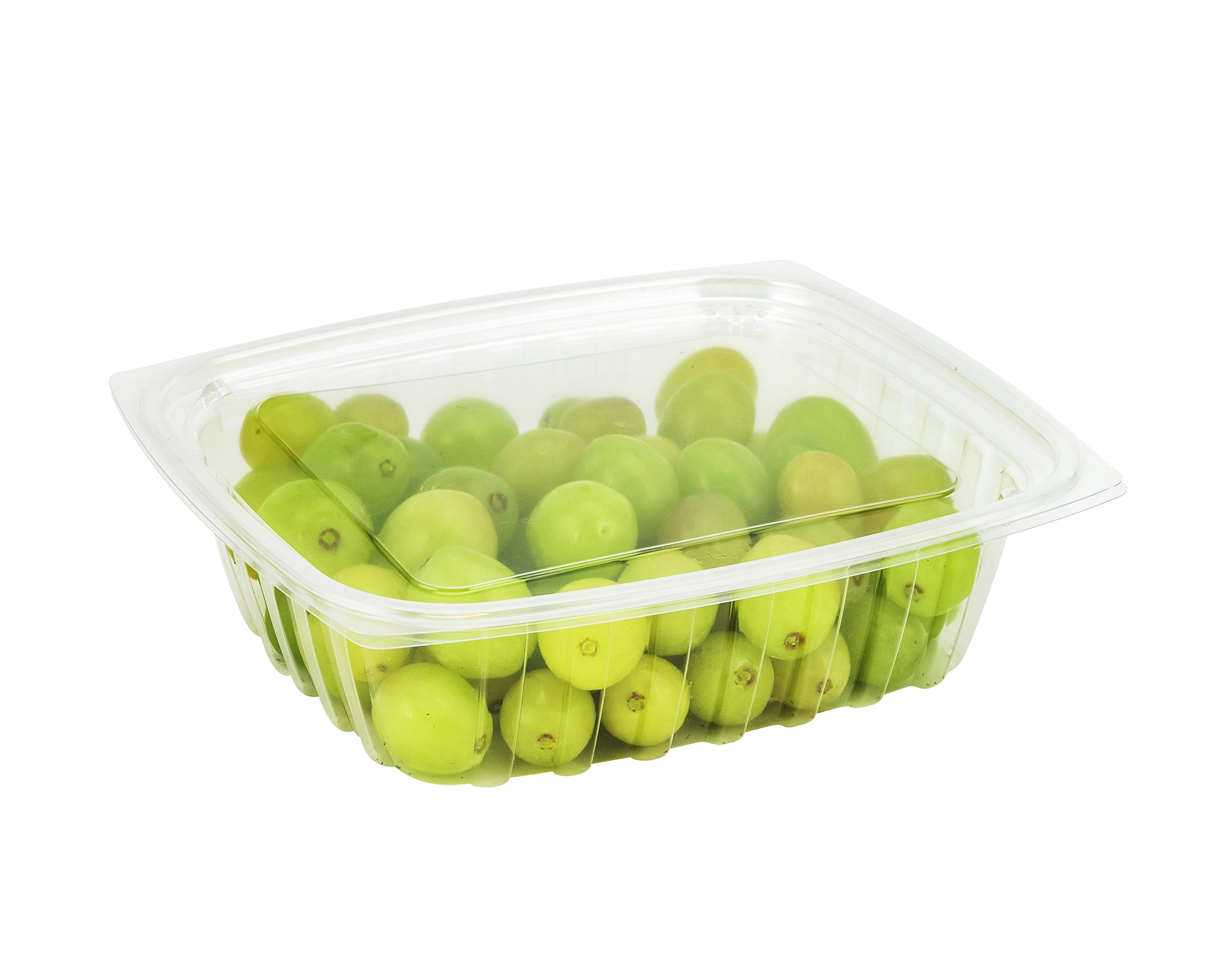 Dart C24DCPR, 24-Ounce ClearPac Clear Rectangular Plastic Container With A Flat Lid, Take Out Deli Fruit Food Disposable Containers (100)
