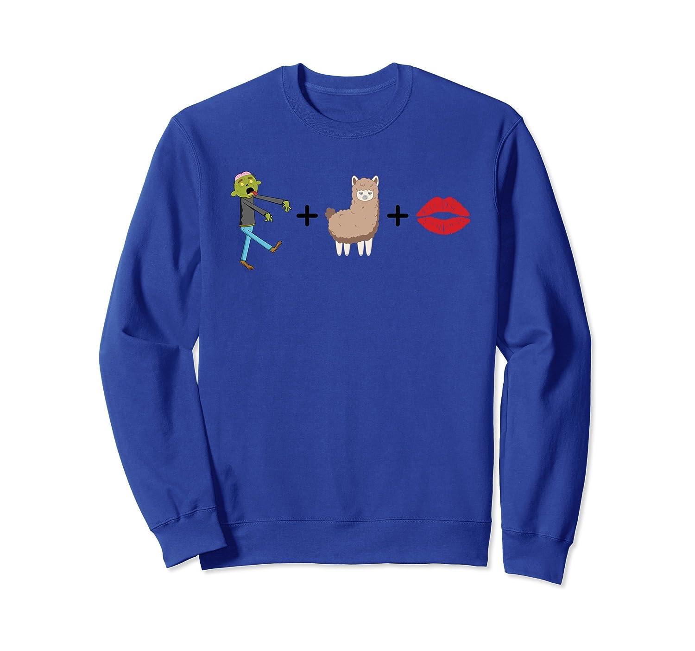 Zombie Alpaca Lips Funny Pun & Parody Sweatshirt-mt