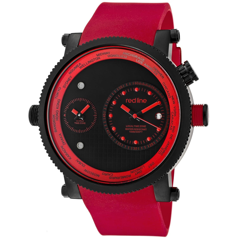 Red Line – rl-50037-bb-01-rd – Zeigt Herren – Quartz Chronograph Armband Gummi rot