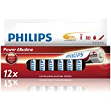 Philips Power Alkaline Battery LR6P12W/10 - non-rechargeable batteries (Alkaline, Cylindrical, AA, LR6, 14 x 14 x 50.1 mm)
