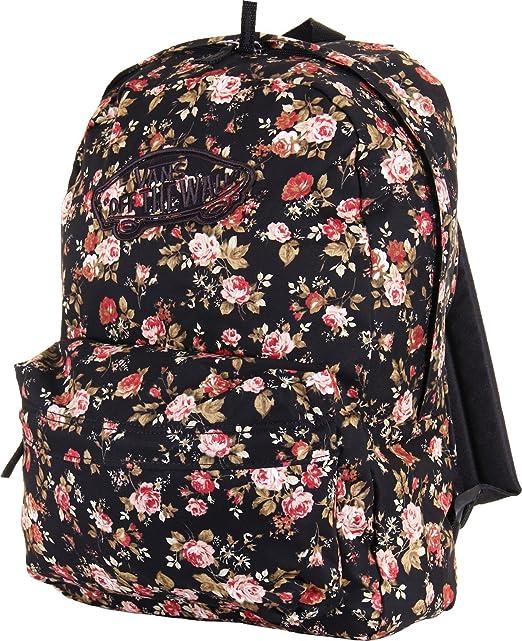Vans Realm Negro Floral de la Mujer rucsac Mochila Escolar: Amazon.es: Ropa y accesorios