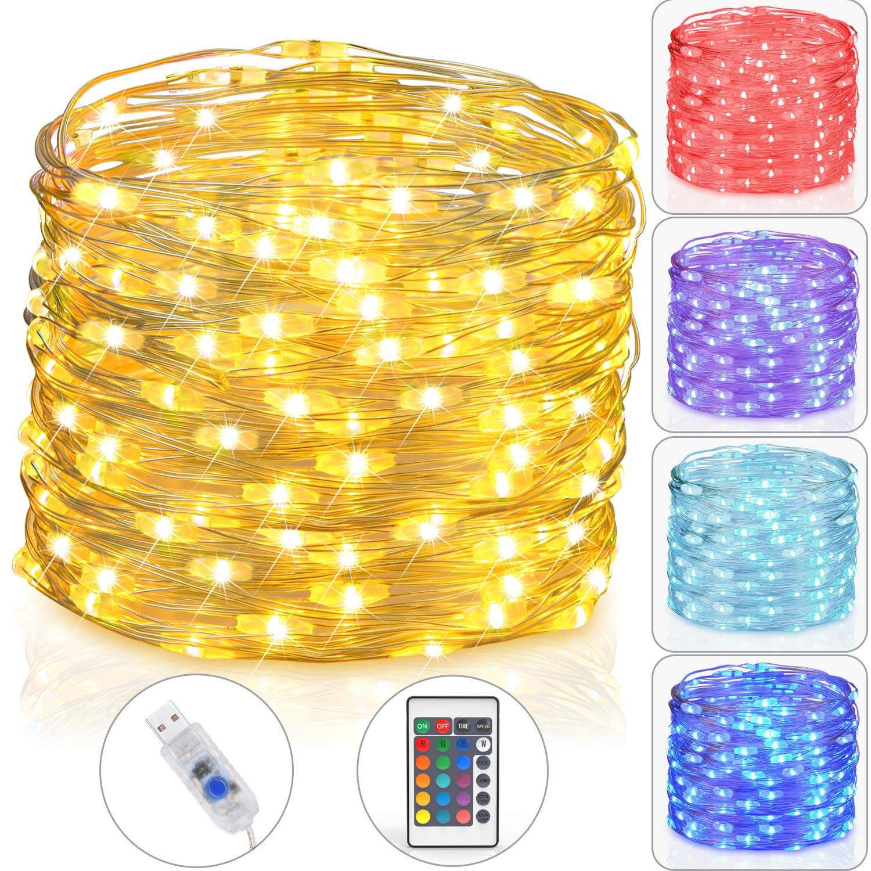 Asmader LED Fairy Lights, USB Plug-in Multi Color