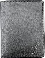 STARHIDE MENS SMALL / SLIM REAL LEATHER CREDIT CARD HOLDER MINI CARD CASE BLACK / BROWN #105