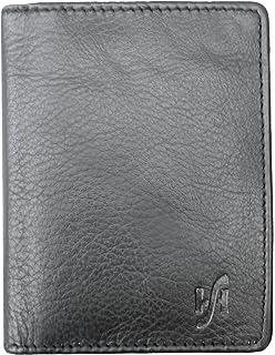 04d34b452610 Men's RFID Blocking Real Leather Black Credit Card Holder, ID Holder ...