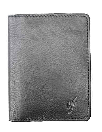 d99bf454228c STARHIDE Men's RFID Blocking Small/Slim Real Leather Credit Card Holder  Miniimalist Card Case Wallet