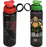 WWE Superstar The Rock and Ryback Plastic Sipper Bottle Set, 700ml, Set of 2, Multicolour