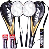 Silver's Blacken 2 Racquets, 1 Box S/C Marvel, 2PVC Grip Badminton Racquet (Multicolor)