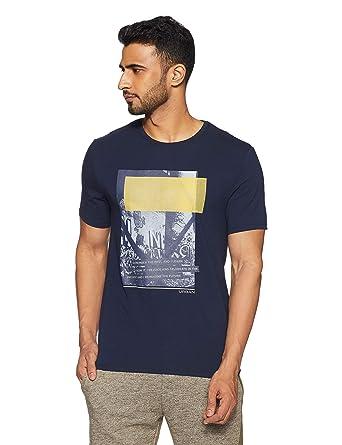 63c297318c03 blackberrys Men's Solid Slim Fit T-Shirt (UKMU0613N1MA18FL39_Navy Rust)