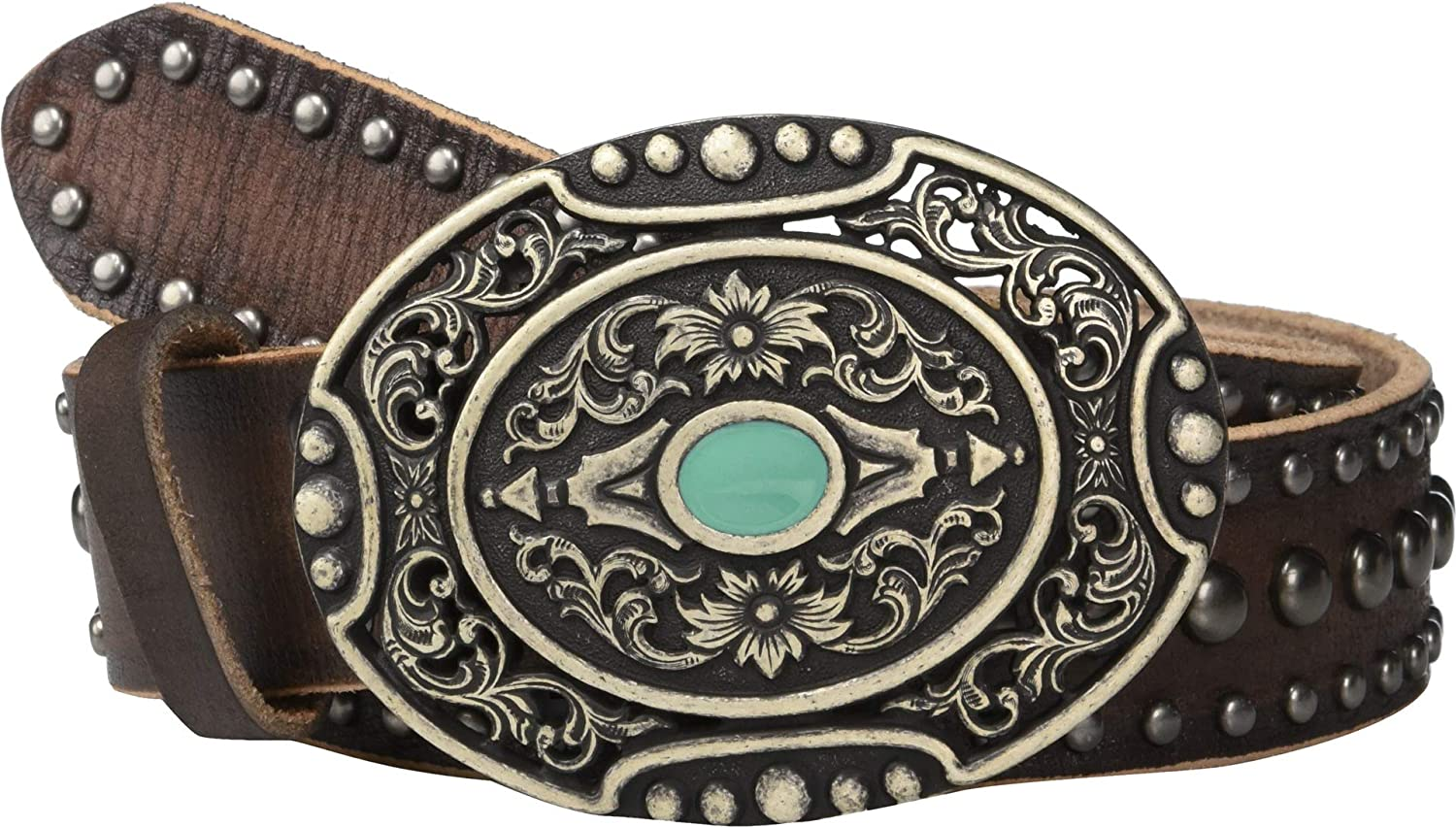 Ariat Distressed Nailheads w/Oval Buckle Belt