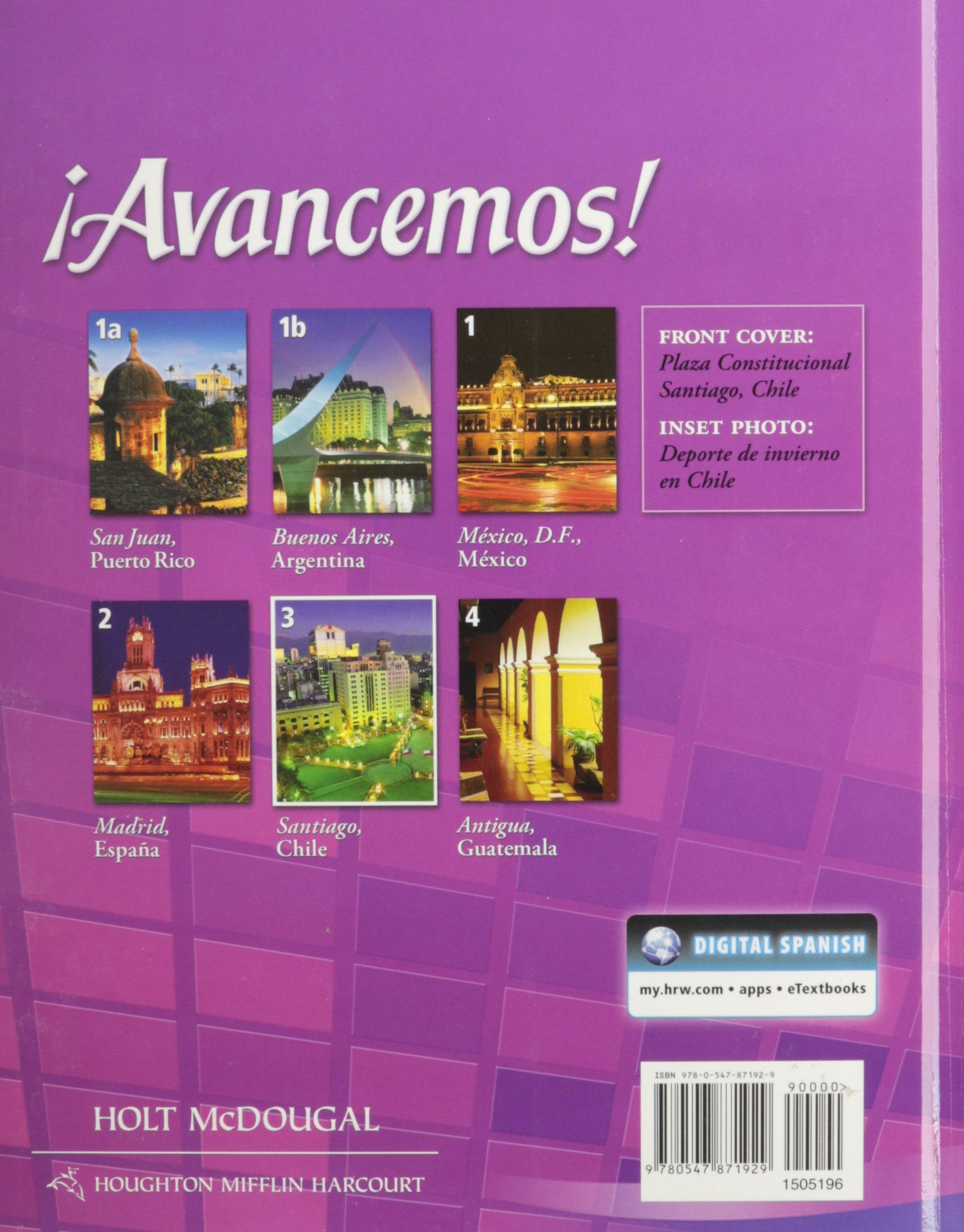Amazon: ¡avancemos!: Student Edition Level 3 2013 (spanish Edition)  (9780547871929): Holt Mcdougal: Books